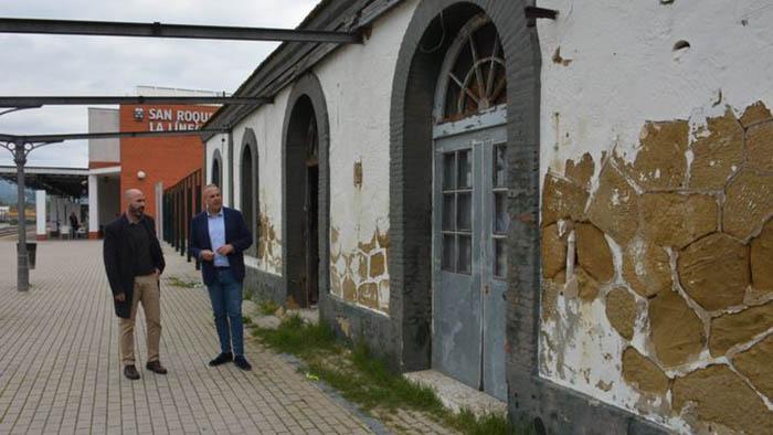 La antigua estación de San Roque