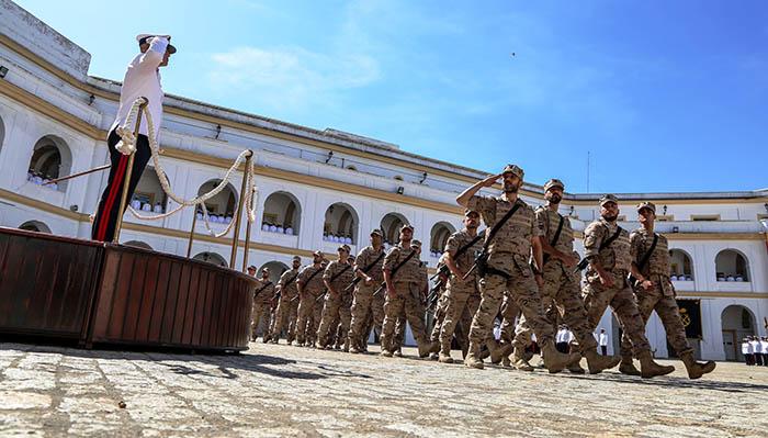 Un momento de la parada que sirvió para despedir a la fuerza expedicionaria. Foto: CG Fuerza IM
