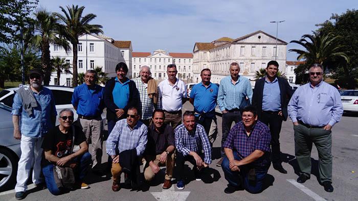 Algunos de los participantes en el encuentro de veteranos del Pavía