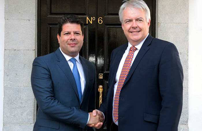 Los ministros principales de Gibraltar y Gales, Picardo y Jones, de izquierda a derecha