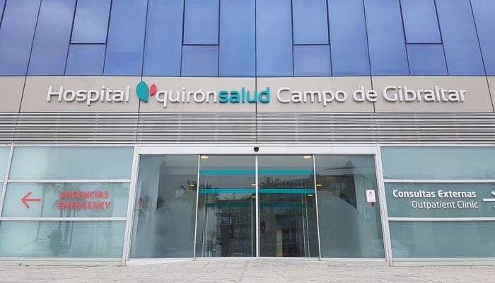 Fachada del hospital Quirónsalud Campo de Gibraltar