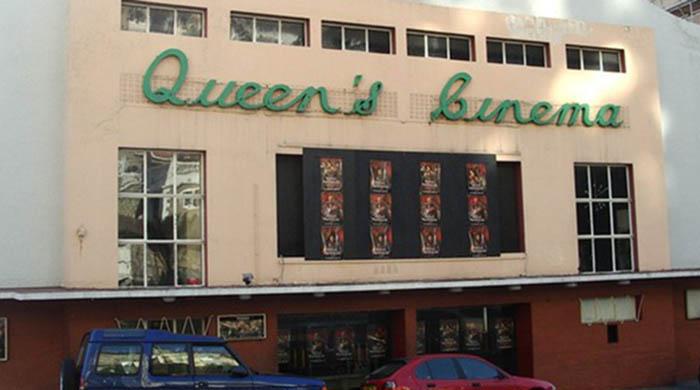Fachada del antiguo Queen's Cinema en Gibraltar