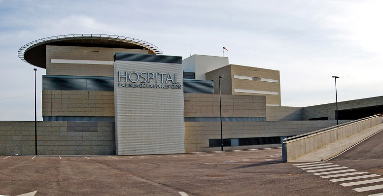 Imagen exterior del nuevo hospital de La Línea de la Concepción