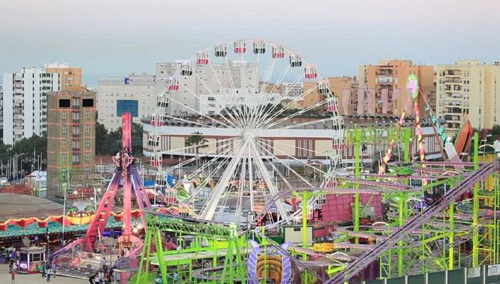 Una imagen de archivo de las atracciones de la Feria Real de Algeciras. Foto: NG