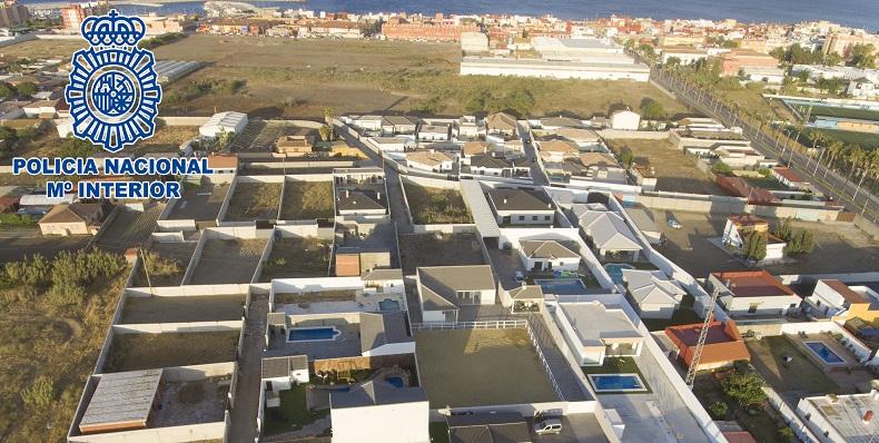 Imagen aérea de las parcelas investigadas