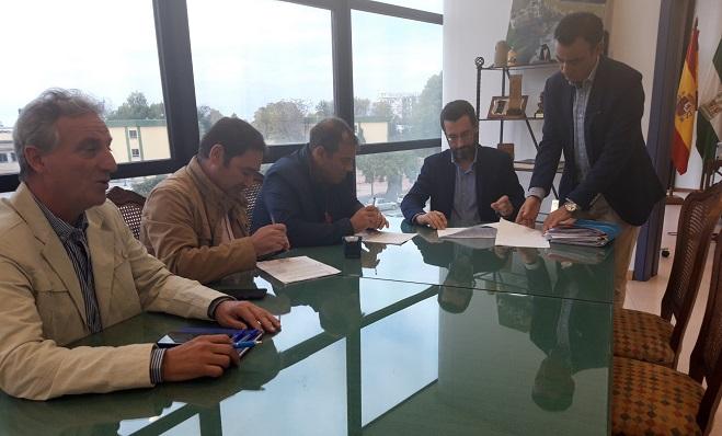 Acto de la firma del contrato