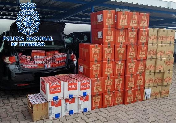 En total fueron intervenidas 14.000 cajetillas de tabaco