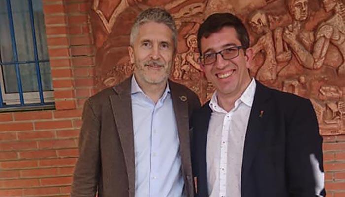 Juan Chacón con Fernando Grande Marlaska
