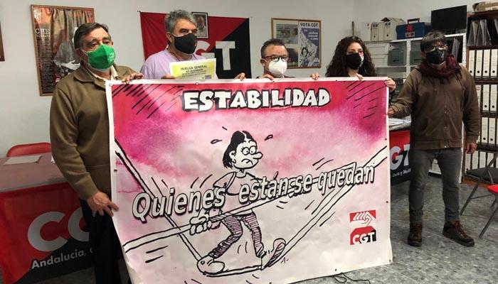 CGT marchará mañana por las calles de Algeciras. Foto: CGT