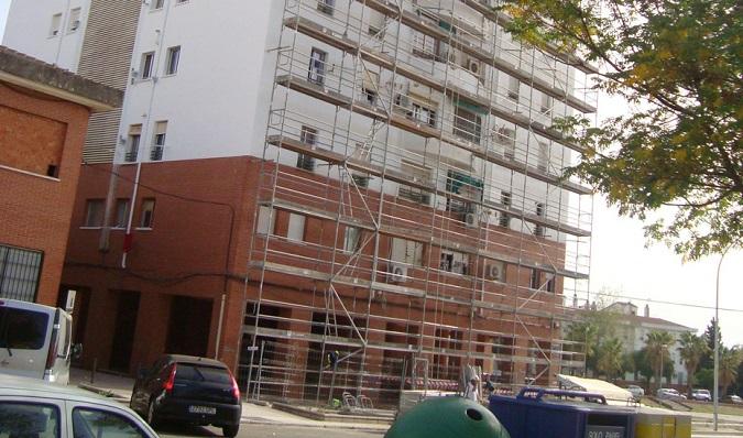 Un edificio en obras