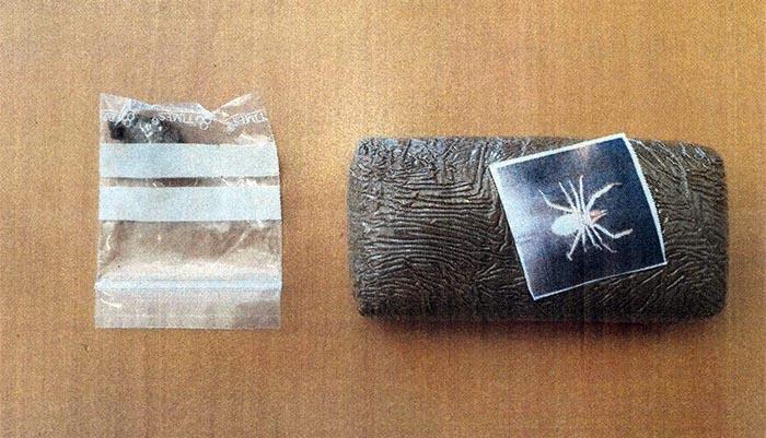 Imagen de la droga requisada por la Guardia Civil en San Roque