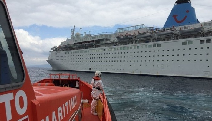 Evacuado a Algeciras el tripulante de un buque que se encontraba indispuesto