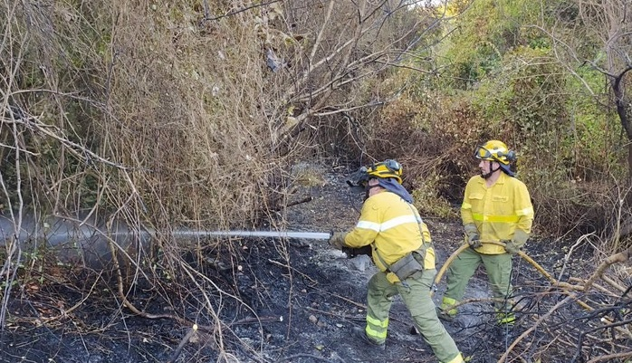 Controlado el incendio forestal del cortijo La Hoya de Algeciras