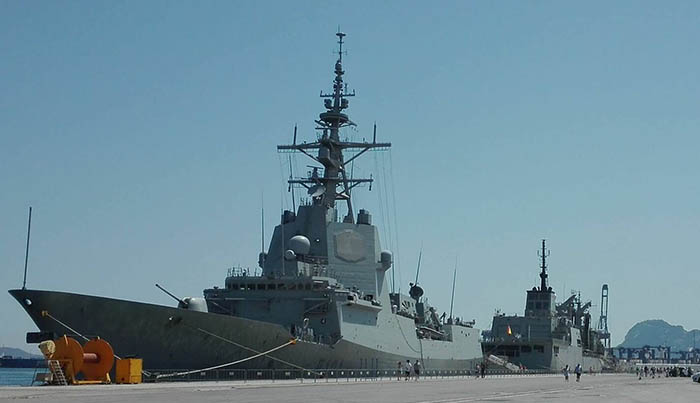 "Fragata ""Álvaro de Bazán"", en el puerto de Algeciras este fin de semana"