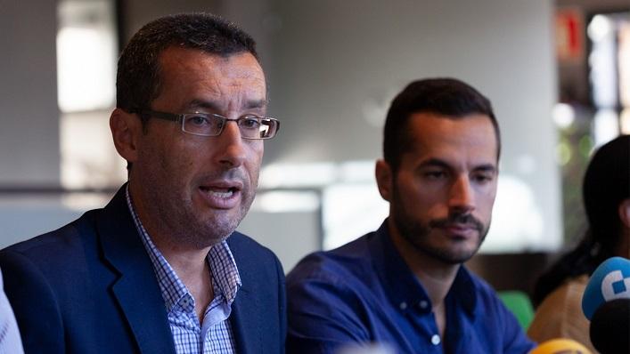 Juan Franco y Mario Fernández, en una rueda de prensa reciente