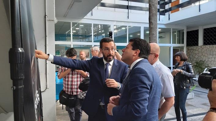 Franco y Picardo también coincidieron el pasado jueves en Gibraltar