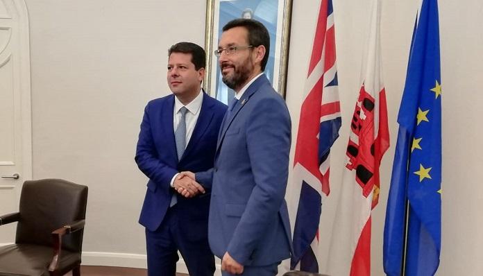 Fabian Picardo y Juan Franco, en una imagen de archivo