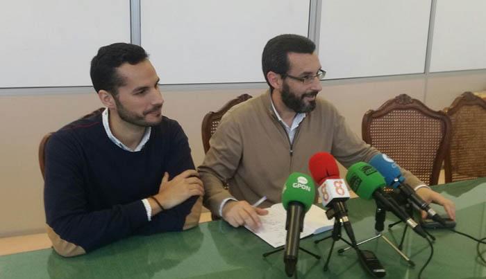 Mario Fernández y Juan Franco, de izquierda a derecha