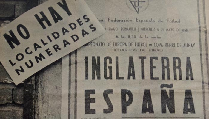 El encuentro politizado entre Inglaterra y España, en mayo de 1968