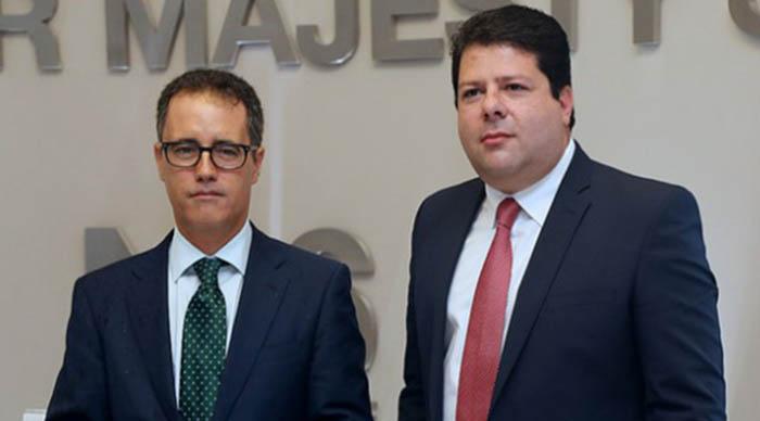 Joseph García (izda) y Fabian Picardo (dcha)