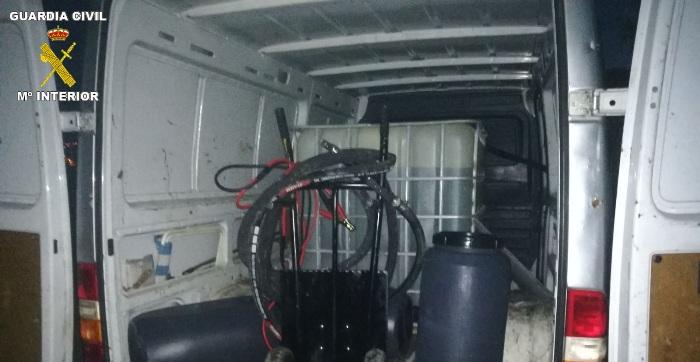 Imagen de la furgoneta proporcionada por la Guardia Civil
