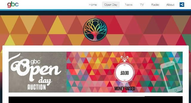 Imagen de la web de GBC con el anuncio del Open Day