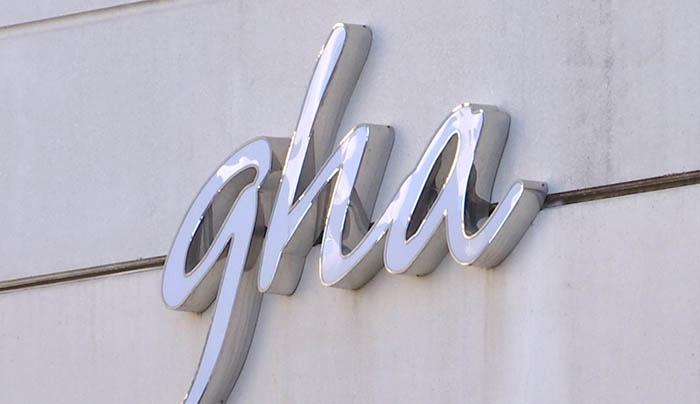Letrero de la Autoridad Sanitaria de Gibraltar GHA