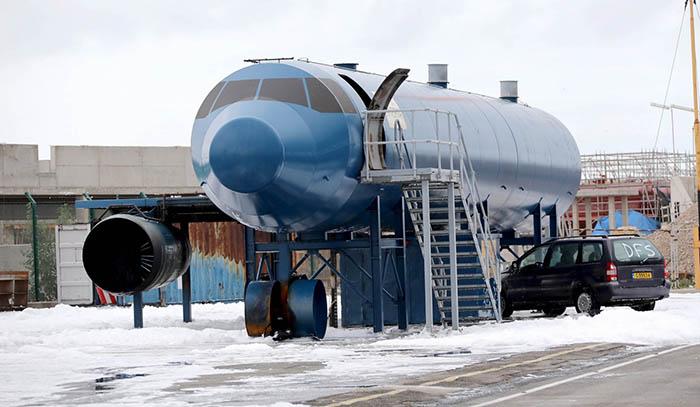 Escenario de uno de los ejercicios en la pista del aeropuerto. Foto  MoD