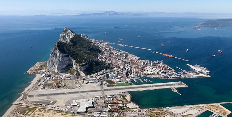 Una vista aérea de Gibraltar