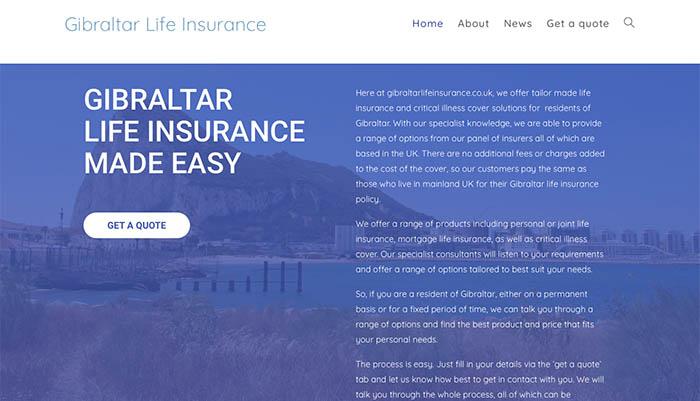 Web de Gibraltar Life Insurance
