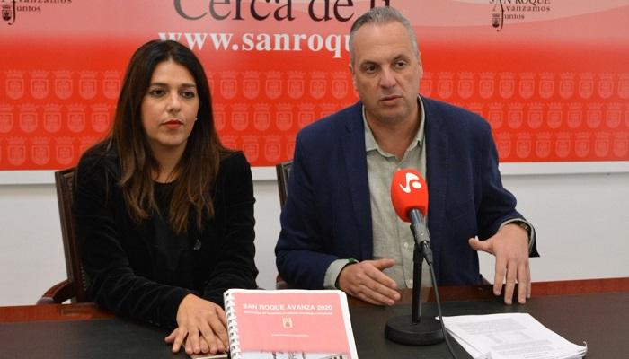 El alcalde de San Roque, Juan Carlos Ruiz Boix, en una comparecencia anterior