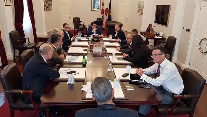 Reunión de hoy del Gobierno de Gibraltar. Foto InfoGibraltar