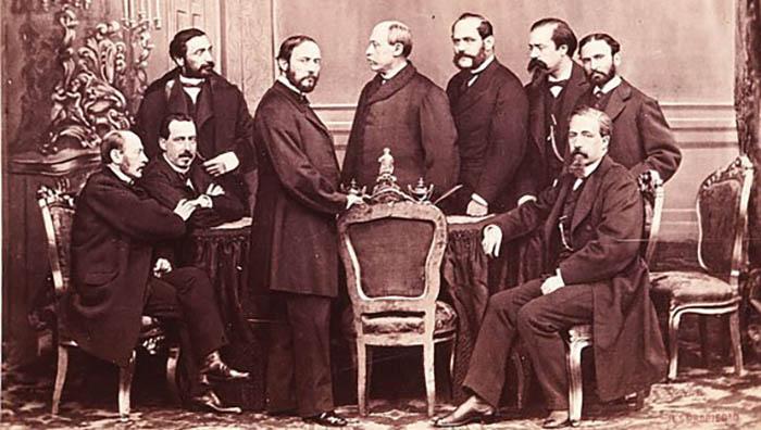 El Gobierno provisional tras el triunfo de la revolución de la Gloriosa (J. Laurent)