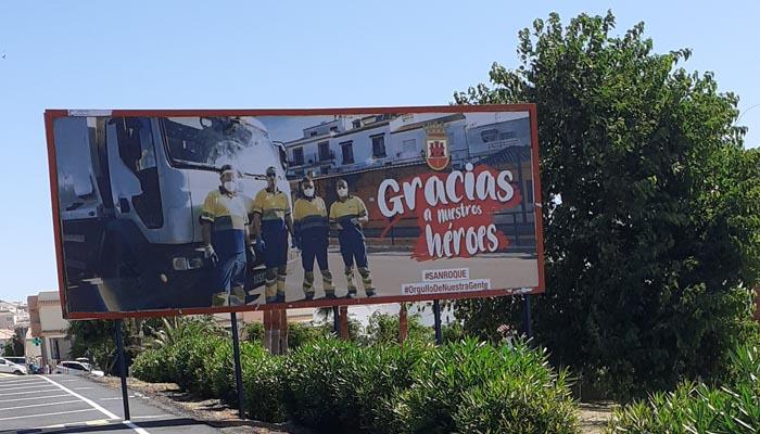 Uno de los carteles de la campaña 'Gracias a nuestros héroes'