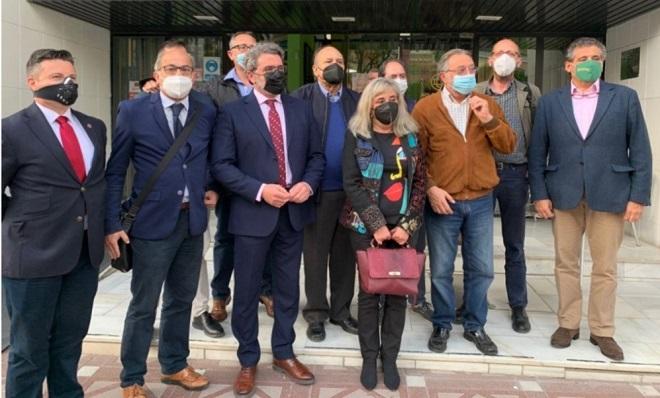Miembros del Grupo Transfronterizo sobre Gibraltar. Foto: NG