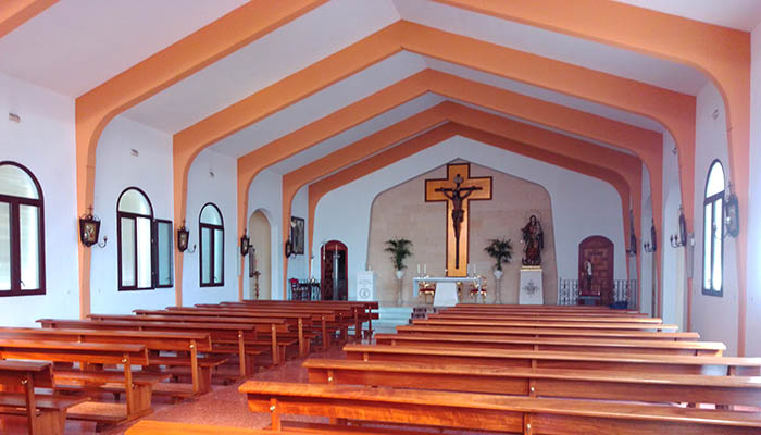 Imagen actual del interior de la iglesia de Guadiaro