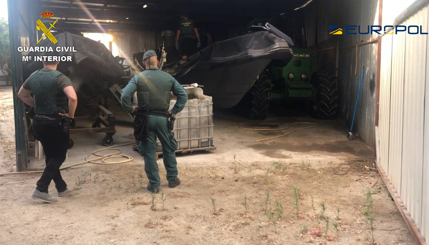 Han participado 250 efectivos de las Guardia Civil