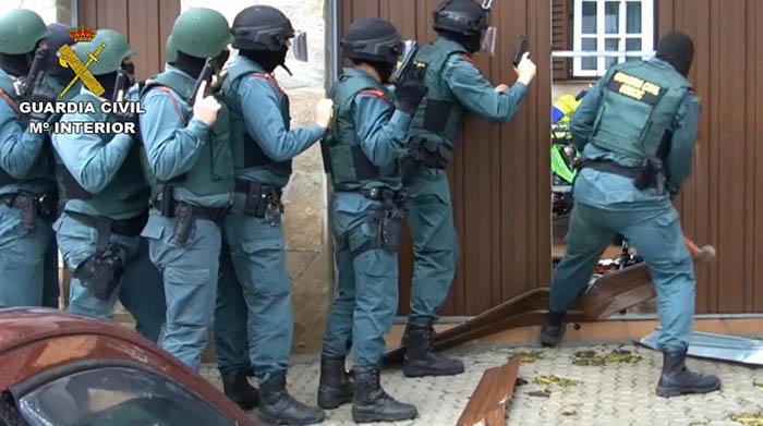 Intervención de la Guardia Civil