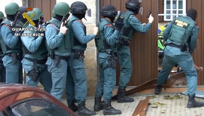 Imagen de una de las operaciones llevadas a cabo por la Guardia Civil