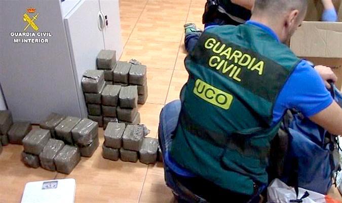 Una imagen de archivo de una actuación de la Guardia Civil. Foto: Interior