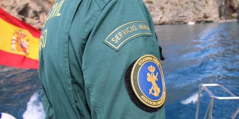 La actuación fue llevada a cabo por el Servicio Marítimo de la Guardia Civil