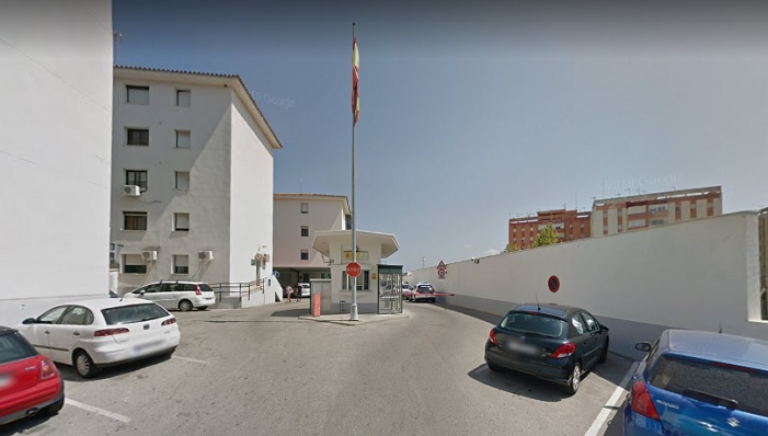 Entrada a la Comandancia de la Guardia Civil de Algeciras