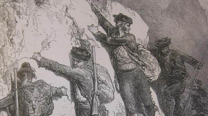 Fragmento de un grabado de Gustavo Doré sobre la serranía de Ronda