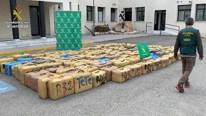 Un cargamento de hachís, en una imagen de archivo. Foto: NG