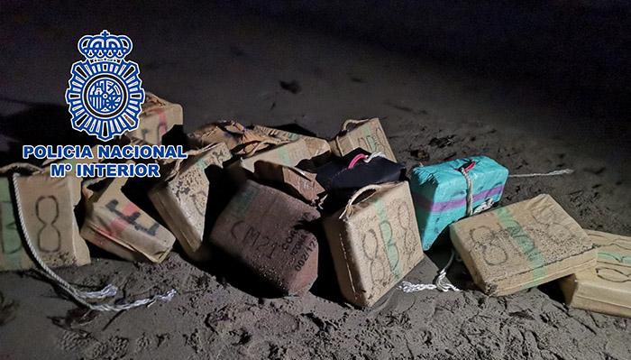 Parte de la droga incautada por la Policía Nacional en La Línea