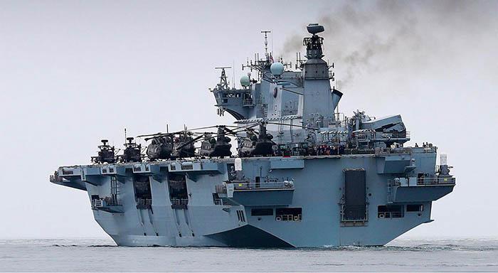 El HMS Ocean, foto facilitada por InfoGibraltar