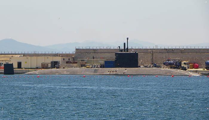 El HMS Talent, durante su último atraque en Gibraltar