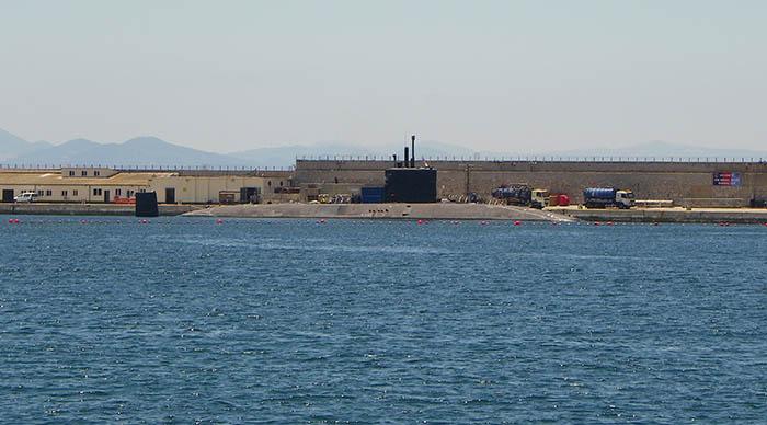 El HMS Talent, en su anterior visita a Gibraltar