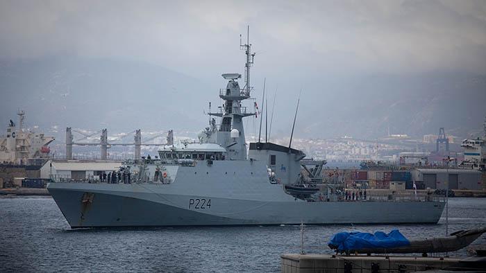 HMS Trent en Gibraltar. Foto Sergio Rodríguez