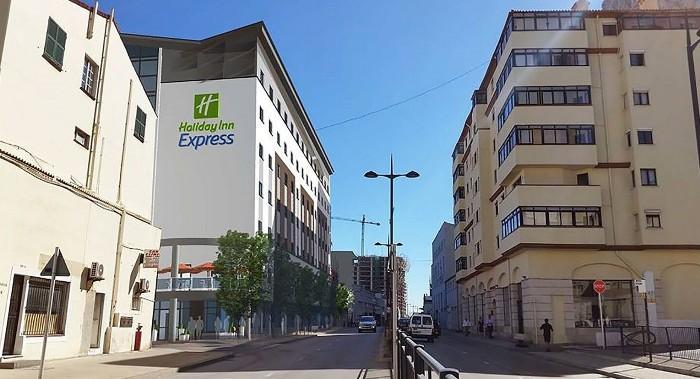 Recreación del futuro Holiday Inn Express